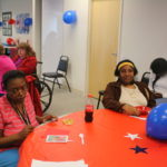 Volunteers enjoying the celebration